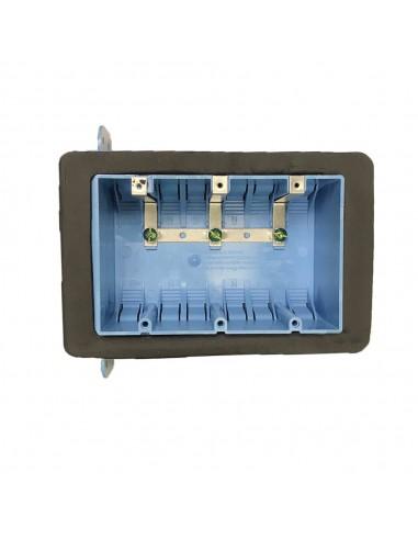 3 Gang Plastic Box - No vapour barrier