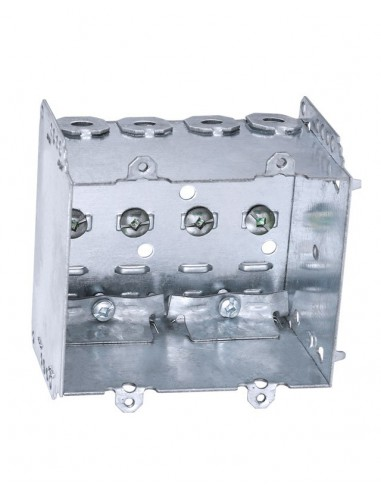 2 Gang Metal Box - Electrical Boxes